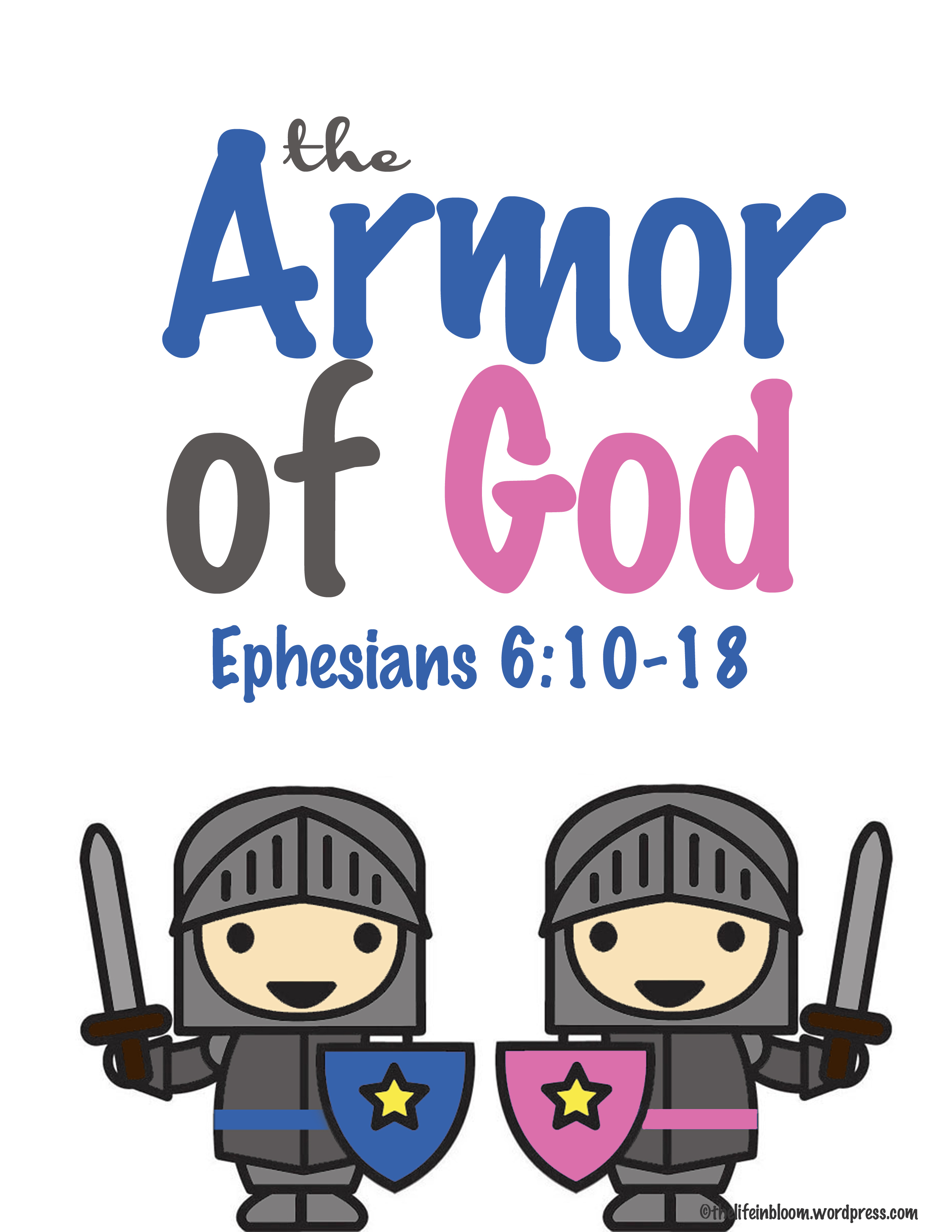 picture relating to Printable Armor of God Worksheets referred to as The Armor of God printable lesson packet