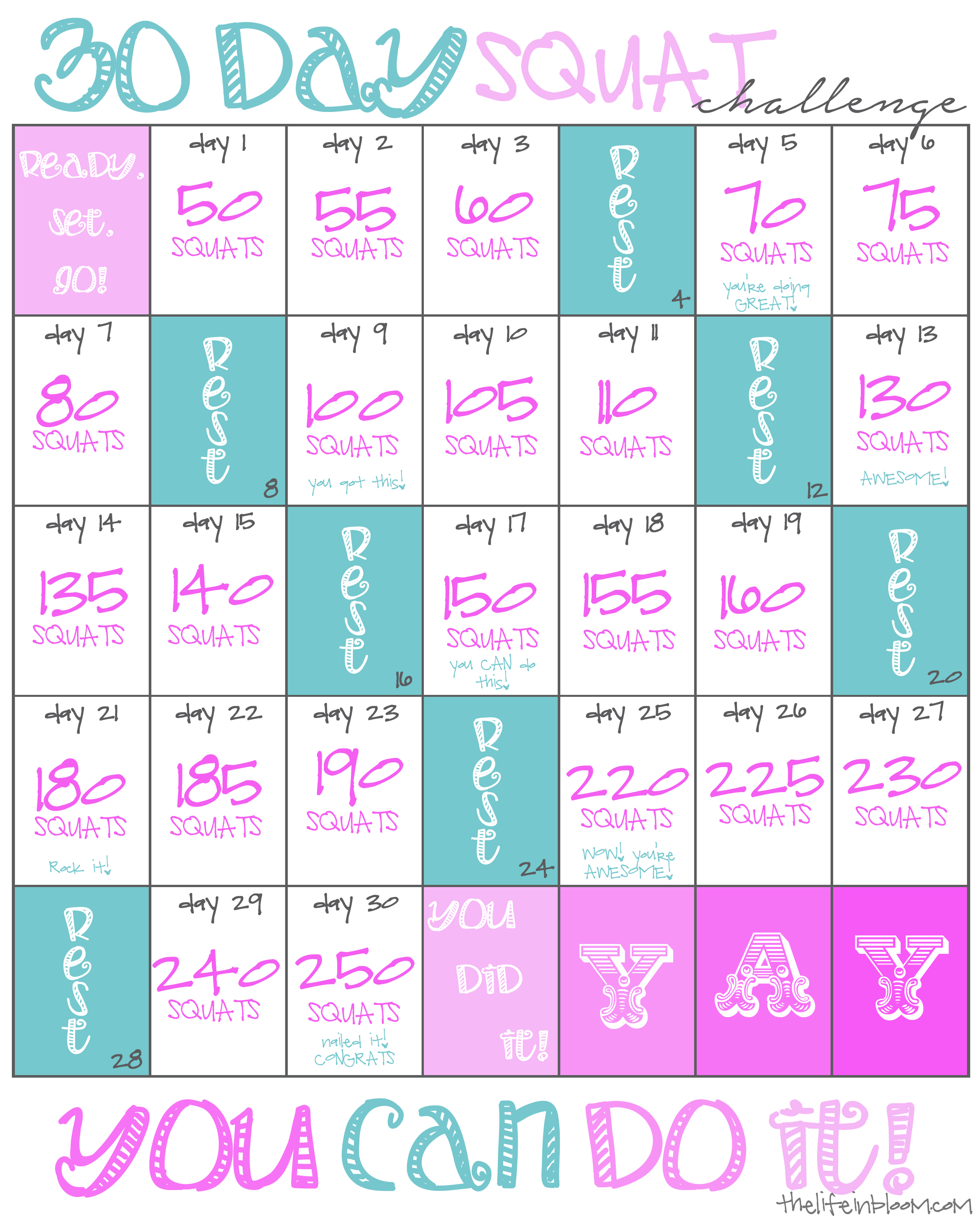 picture relating to 30 Day Squat Challenge Printable named Eliminate it such as its Squat! 30 Working day Squat Dilemma!