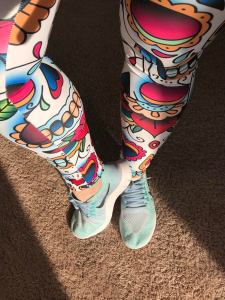 3b8a23bab36a90 I received these GORGEOUS sugar skull leggings! OMG! Swoon right? I LOVE  the Day of the Dead and sugar skulls, I have them everywhere {my instant  pot is ...