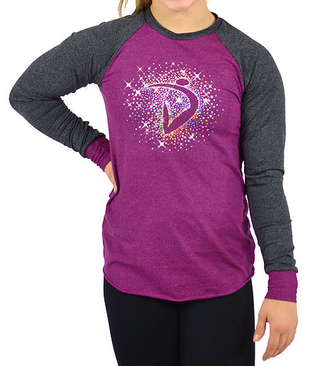 Di Burst Long sleeve Tee- Magenta