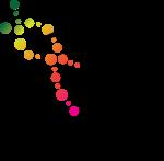 D Logo Helix Rainbow gradient