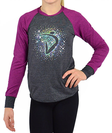Di Burst Long Sleeve Tee- Titanium